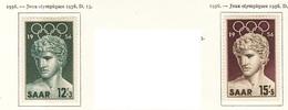 JO Melbourne 1956 Sarre - Saarland Y&T N°353 à 354 - Michel N°371 à 372 * - Vainqueur De Bénévent - Summer 1956: Melbourne