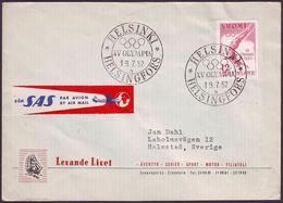 Finland - 1952 E - Olympic Games 1952 - Letter (letter N) - Ete 1952: Helsinki