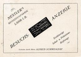 1928: Lahr/Baden Luftpost Stempel: Präzisions Reißzeugfabrik-Besuchsanzeige - Non Classés