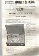 APPAREILS DE MESURE : APPAREILS POUR  T.S.F. - Vieux Papiers
