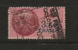 FISCAUX FRANCE SERIE UNIFIEE N°135 3F60 Rose COTE 280€ - Revenue Stamps