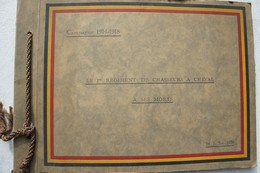 Photox14 ALBUM ABL 1914-18 CAVALERIE 1er Régiment Chasseur à Cheval Hommage Aix Morts 1929 Belgische Leger WW1 - Albums & Collections