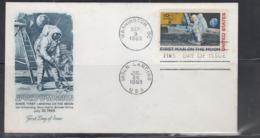 SPACE - USA - 1969 - MOON LANDING FDC WITH WASHINGTON AND MOON LANDING  POSTMARKS - Lettres & Documents