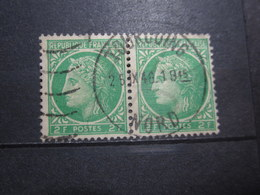 """VEND BEAUX TIMBRES FRANCE N° 680 EN PAIRE , OBLITERATION """" TOURCOING """" !!! - 1945-47 Cérès De Mazelin"""