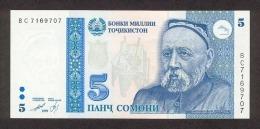 Tajikistan 5 Somoni  1999  Pick 15 UNC - Tadschikistan