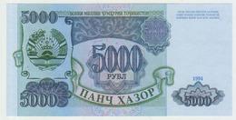 Tajikistan 5000 Ruble  1994  Pick 9A UNC - Tadschikistan