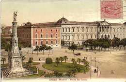 Madrid Plaza De Colon + Timbre 10 Colorisée RV - Madrid