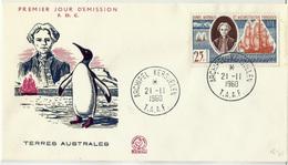 TIERRAS AUSTRALES (s) 18 En Sobre 1º Dia. Catalogo 41 € - Französische Süd- Und Antarktisgebiete (TAAF)
