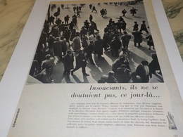 ANCIENNE  PUBLICITE HOMME INSOUCIANTS LOTION STRAL 1960 - Perfumes & Belleza