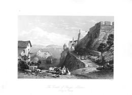 Parga, Albanien - Stahlstich Um 1850 - Prints & Engravings
