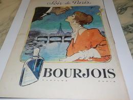 ANCIENNE PUBLICITE PARFUM SOIR DE PARIS DE  BOURJOIS 1960 - Perfumes & Belleza