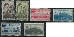 1943 Turkey Set Mnh ** 6 Euros - 1921-... Republic