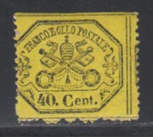 Etats Pontificaux 1868 Yvert 24 * B Charniere(s) - Kirchenstaaten