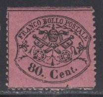Etats Pontificaux 1868 Yvert 25 * B Charniere(s) - Etats Pontificaux