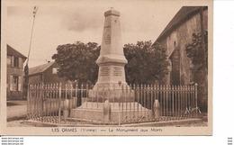 89 . Yonne :   Les Ormes : Le Monument Aux Morts . - France