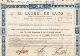 ESPAGNE-EL LAUREL DE BACO.  MADRID. - Acciones & Títulos
