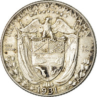 Monnaie, Panama, 1/10 Balboa, 1931, TTB+, Argent, KM:10.1 - Panama