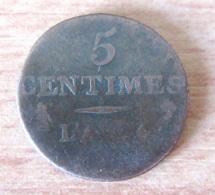 France - Monnaie 5 Centimes Dupré AN 4 A (Paris) Petit Module - Achat Immédiat - 1789-1795 Monnaies Constitutionnelles