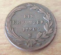 Autriche / Austria - Monnaie 1 Kreuzer 1790 S (Schmöllnitz) - TTB+ - Frappe Légèrement Décentrée - Autriche