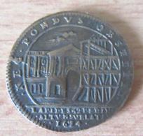 France - Jeton Louis XIV 1674 En Bronze - NEC PONDVS OBTITIT - Bâtiments Du Roi - TTB - Royaux / De Noblesse