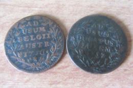 Pays-Bas Autrichiens + Luxembourg - 2 Monnaies De 2 Liards 1750 Et 1757 Marie-Thérèse - [ 1] …-1795 : Période Ancienne