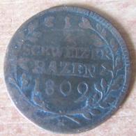 Suisse - Canton De St Gall / St Gallen - 1/2 Schweizer Bazen 1809 K - Suisse