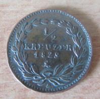 German States / Duché De Bade - Monnaie 1/2 Kreuzer Ludwig I 1829 - SUP - [ 1] …-1871 : Etats Allemands