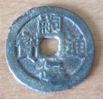 Viêt-Nam - Sapèque Uniface / 1 Phan - Empereur Tu Duc (1848 - 1883) - Excédent De Métal Sur Le Caractère Du Bas - Vietnam