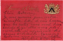 CPA  GAUFRÉE--BELGIQUE---SOUVENIR D'OSTENDE---1915 - Oostende