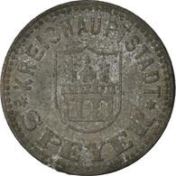 Monnaie, Allemagne, Kriegsnotgeld, Speyer, 10 Pfennig, 1917, TTB, Zinc - Monedas/ De Necesidad