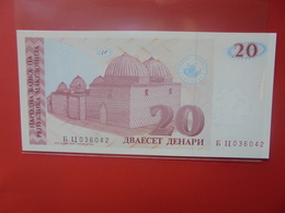 Macédoine 20 DENARI 1993 PEU CIRCULER/NEUF (B.12) - Macedonia