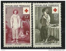 """FR YT 1089 & 1090 """" Au Profit De La Croix-Rouge """" 1956 Neuf* - France"""