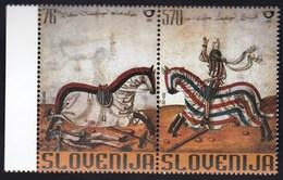 Slovenia 2003 / Art, Lamberger's Tournament Book, Horses / MNH - Slovenia