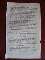 Loi An X Traite Des Noirs Et Régime Des Colonies Signé : Bonaparte Premier Consul - Gesetze & Erlasse