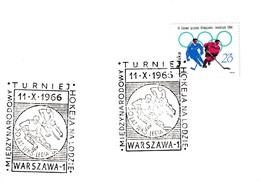 Poland 1966 Card: Ice Hockey Sur Glace Eishockey: International Tournament; 50 Years Of WKS Legia Warschawa Club; - Hockey (sur Glace)