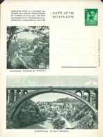 Luxembourg  -  Carte-Lettre  -  Briefkarten - Luxembg: Ville Basse Du Pfaffenthal - Le Pont Adolphe - Entiers Postaux