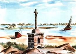 CPM - BELZ - CALVAIRE St CADO - Illustration J.SUAIN - Edition Colorima - Other Municipalities
