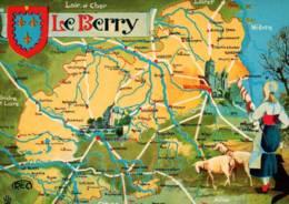 CPM - Carte GEO.- LE BERRY - Illustration JL.B. - Edition M.Roussel - Carte Geografiche