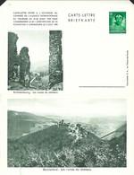 Luxembourg  -  Carte-Lettre  -  Briefkarten - Brandenbourg:Les Ruines Du Château - Bourscheid:Les Ruines Du Château - Entiers Postaux
