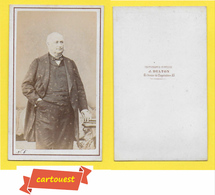 Photographie Albumen ֎ CDV Circa 1880 ♥️ ♥️☺♦♦ Bourgeois ֎ Maison J.DELTON Photographe HIPPIQUE Berck Sur Mer - Photos