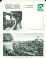 Luxembourg  -  Carte-Lettre  -  Briefkarten - Luxembg:Vue Sur La Ville- Haute - Luxembg:Vallée De La Pétrusse - Entiers Postaux
