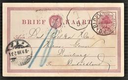 Orange Free State 1899 ½d Postcard BLOEMFONTEIN To Germany. - Orange Free State (1868-1909)