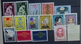 NEDERLAND  1960   Van Nr. 736  Tot 751   Postfris ** /  Nr.  743 - 44 Met  Scharnier *    CW 36,00 - Nuovi