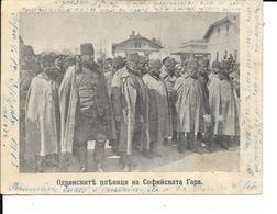 """Sofia """"Bulgarie"""" Prisonniers Turcs D'Andrinople à La Gare De Sofia, Le 1er Sept 1913 - Circulé - 2 Scans - Guerre 1914-18"""