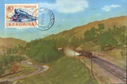 Romania - Maximum Postcard,maxicard 1970 - Train - Eisenbahnen
