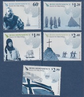 Ross, N° 130 à 134 (Centenaire De La 1° Expédition Au Pôle Sud, Amundsen, Engelbregt, Scott, ...) Neuf ** - Dépendance De Ross (Nouvelle Zélande)