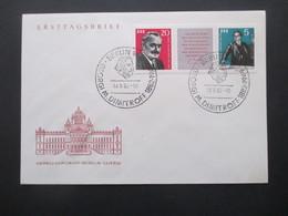 DDR 1962 Georgi M. Dimitrow Dreierstreifen Mit Zierfeld FDC Und Sonderstempel Dimitroff KW 75€ - Briefe U. Dokumente