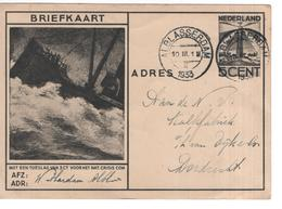 Alblasserdam 10.III.1933 Crisiscomité - Geuzendam - Marcofilia