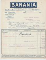 SEINE: BANANIA, 4, Rue Lambrechts à Courbevoie / Fact De 1926 - Alimentaire