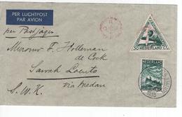 Luchtpost - Postjager - 1933 - Sawah Laento - Reddingswezen - Postal History
